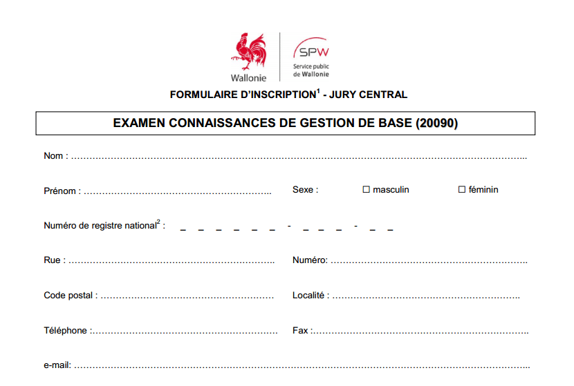 formulaire inscription gestion de base jambe